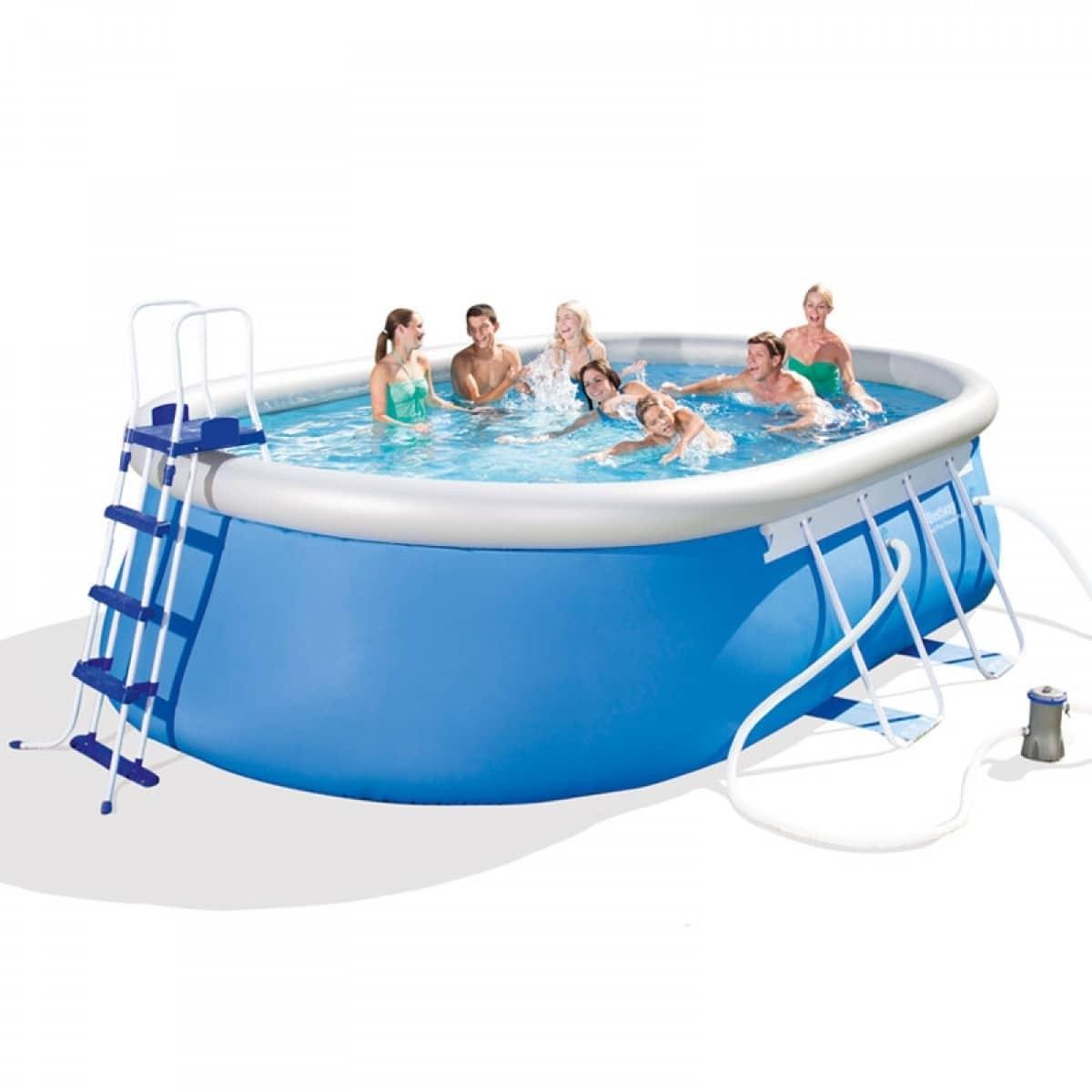 Bestway piscina ovale 549x366x122 cm pompa filtro a - Accessori piscina fuori terra ...
