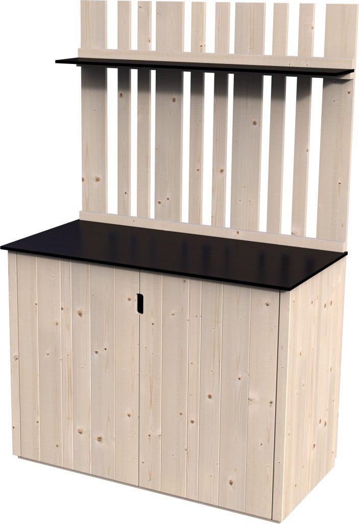 Armadio in legno armoire haute vertigo rettangolare dimensioni esterne 120 57 cm 0 68 m2 - Mensole da esterno ...