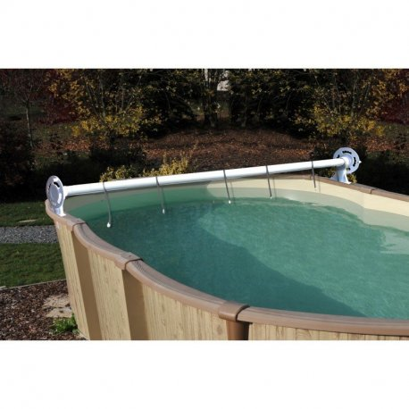 Gre avvolgitore telo luxe per piscine fuori terra da 2 for Accessori piscine gre
