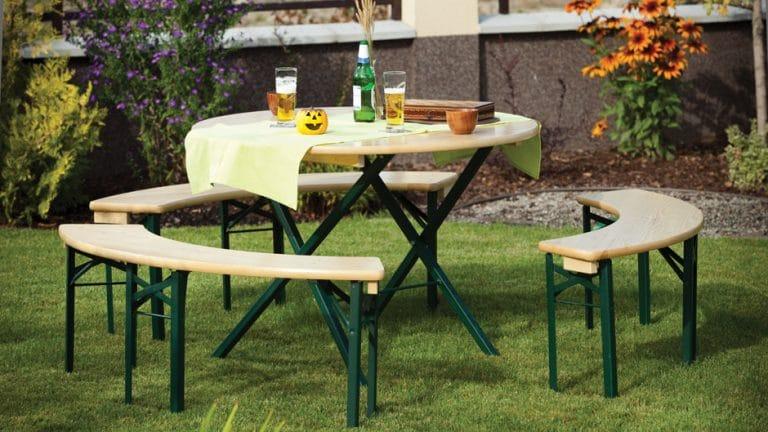 ARTHUR - Tavolo con panche richiudibili in legno