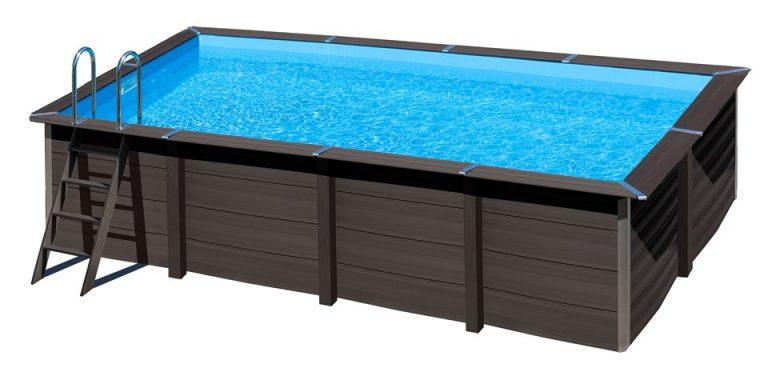Gre piscina fuori terra rettangolare avantgarde in materiale composito 674 x 368 x 124 h - Piscine rettangolari fuori terra ...