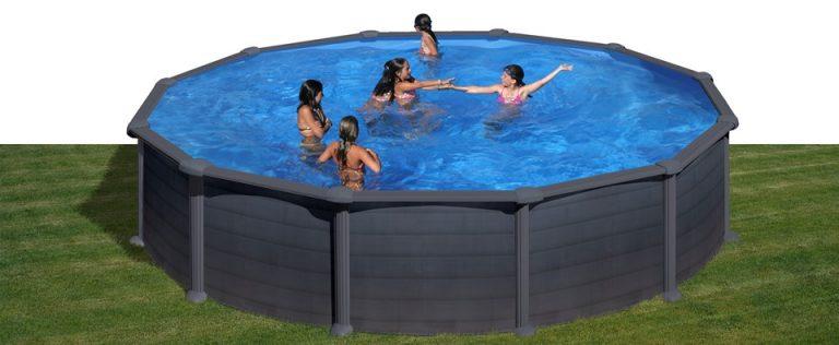 Gre piscina fuori terra rotonda granada 460 460 132 cm for Piscina granada centro